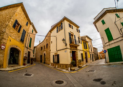 Alcudia OldTown, Majorca, Spain. (CWhatPhotos) Tags: cwhatphotos camera photographs photograph pics pictures pic picture image images foto fotos photography artistic that have which contain with olympus four thirds 43 spanish spain mallorca majorca island october 2016 weather alcudia wall abstract windows square color colors colour colours view lines straight line vertical horizontal shutter shutters building buildings architecture colorful colourful shapes samyang fisheye fish eye lens wide angle street lane back