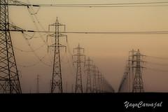 Otra forma de contaminar (YayoCarvajal) Tags: desierto contaminacion desert cablesaltatension atardecer contamination contraluz sunset cables perspectiva simetria mariaelena antofagasta chile infinito yayocarvajal