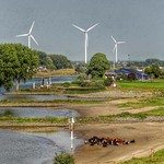 The floodplains along river Lek at Vianen, Netherlands - 4519 thumbnail