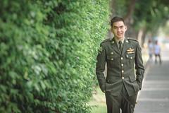 Portrait Thai royal military academy student.