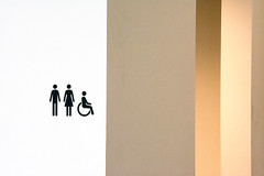 Toilet (Jan van der Wolf) Tags: map161139v toilet wc lines lijnen abstract wall muren walls icon symbol gate composition compositie