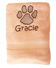 Dog Paw Towel (initial_impressions) Tags: embroidered personalized dog paw towel
