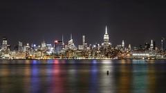 Manhattan (karinavera) Tags: travel sonya7r2 newyork panorama longexposure water manhattan night cityscape city