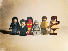 Lego Twits and Crits: Family Portrait (Theindianaevan) Tags: lego custom minifigures grimorudefellow shattercock myriadusoprobbels racsanbartooth dirikbenslorde legotwitsandcrits twitsandcrits legfunhaus funhaus