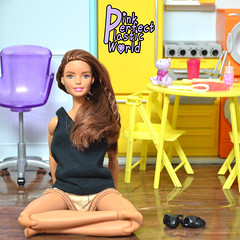 day 23e (pinkperfectplasticworld) Tags: djy08 barbie pink perfect plastic world int jour day nikon doll dolls poupe poupes puppen bambole poppen bonecas dockor nuket dukker  yoga     blue top fitness bambi made move mtm 2015 mueca muecas mattel 16 sport