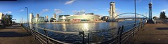 Salford quays. Looking great in the sunshine today. (Snipsnapper) Tags: architecture ilovemcr ilovemanchester lowrytheatre waterscape manchestereveningnews waterway lowry salfordquays