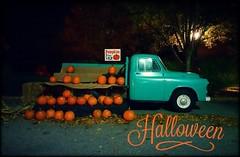 Pumpkins Aplenty (dianealdrich - Please read my profile) Tags: pumpkins pumpkin halloween autumn augustcolor season seasonal fallseason colorful night nightscape evening truck orange vibrant vibrantcolor dark darkness october