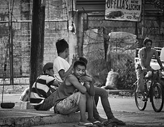 Watching and Wondering (Beegee49) Tags: young men sitting amused bacolod city philippines