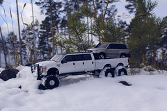 Ford F-350 6 door 6wd 29 (My Scale Passion) Tags: ford f350 meng monogram losi micro mini crawler scale rc modeling custom snow snowrun crawling climbing expedition northpole southpole truck double dual dually duallie 6door 10wd 10x10 125 124 miniz overland landcruiser build