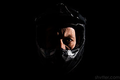 Helmet Self (#Weybridge Photographer) Tags: studio adobe lightroom canon eos dslr slr low key mkii bike park wales mountain biking cycling helmet casque black shadow background 5d ii