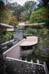 The Guests Are Fine (trainmann1) Tags: nikon d90 tokina 1116mm amateur handheld millrun bearrun pa pennsylvania october 2016 1936 1939 fallingwater fallingwaterhouse franklloydwright flw nature forest woods trees leaves foliage fall autumn guesthouse window driveway stone rocks beautiful architecture design architect amazing detail green red yellow orange concrete