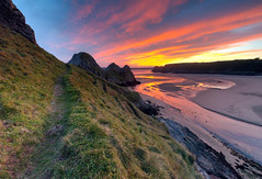 Magical Landscape (Edy Rice Photography) Tags: findyourepic omgb gower three cliffs swansea sunset colours vibrant dreamy landscape estury sea ocean beach sand