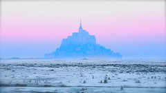 First one of December... (Marie.L.Manzor) Tags: december winter 2016 frost landscape montstmichel sky nature historiral france nikon d610 nikkor colors mist castel light sun sunrise fog architecturalcapture fairytail