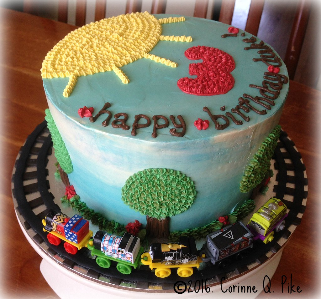Train Themed Birthday Cake Pikecorinne Tags Chocolate