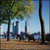 Rollie goes Rotterdam (18) (Hans Kerensky) Tags: rollei rolleiflex t model 3 tlr tessar 135 75mm lens fuji fujifilm reala 100 film scanner plustek opticfilm 120 rotterdam october river promenade nieuwe maas parkkade