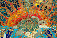 """The Creation Story Mosaic"" by Doreen Stevens (A Great Capture) Tags: tile sun sunshine canada on toronto mosaic art turtle mural zoo turtleislandconservation island conservation first nation aboriginal artists creation story 4 elements mother earth agreatcapture agc wwwagreatcapturecom adjm ash2276 ashleylduffus ald mobilejay jamesmitchell ontario canadian photographer northamerica fall autumn automne herbst 2015 colours colors eos digital dslr outdoor outdoors vibrant colorful cheerful vivid bright street photography"
