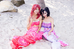 Maki & Nico (bdrc) Tags: asdgraphy maki nico lovelive cosplay portrait outdoor morning putrajaya pullman resort sand beach makoto ikura nikkor 50mm f14d prime manual sony a6000