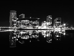 The silent Southern invasion of the North (same angle different lens) (Jonathan.Alexander) Tags: salfordquays manchester longexposure nightphotography mediacity