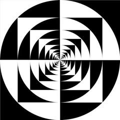 1414213 (monochromeandminimal) Tags: opart op art animation mediart digital black white
