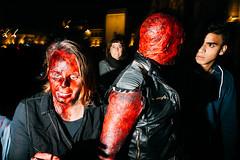 Halloween, Gent (Giacomo Vesprini) Tags: street photography streetphotos eyegobananas giacomovesprini canon 5dmarkiii flash 600exrt sigma 24mm art zombie obscured blood gent belgium