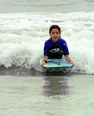 Karina Erickson_rides a small wave_bodyboard_2003 f19 (Larry R. Erickson) Tags: karinaerickson bodyboarding girlsbodyboarding