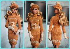 Beret, sweater, gloves, skirt for Fashion Royalty, Poppy Parker, Barbie, FR2 (electraere) Tags: beret sweater gloves skirt fashionroyalty poppyparker barbie fr2