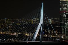 Erasmus bridge (jochem568) Tags: erasmus brug bridge night avond nacht evening euromast architecture building buiten outdoor skyline