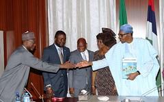 PRESIDENT BUHARI RECEIVE EXE SEC GULF OF GUINEA