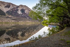 Lake Pearson (MiissMuffet) Tags: lakepearson landscape water lake d3200 1685mm sunset trees bank mountains hills waterscape nature outdoors reflection scenery newzealand aoteroa souhisland nikon