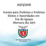 Evento de Foz para prefeitos, prefeitas e autoridades.