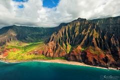 Napali Coast 07 (Evan Gearing (Evan's Expo)) Tags: cathedrals hawaii helicoptertour kauai napalicoast places