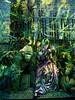 The Book Club (UrbanphotoZ) Tags: thebookclub window bergdorfgoodman woman mannequin book jungle apes gorillas dress tropical greenhair destinationextraordinary reflection building midtown manhattan newyorkcity newyork nyc ny