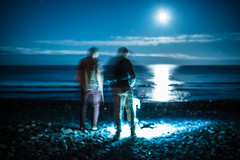 Blurry Beach (Evan's Life Through The Lens) Tags: camera sony a7s lens glass 50mm f18 af fe long exposure experiment beautiful vibrant color blue orange night light friends adventure fun autumn cold