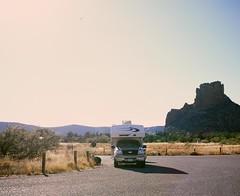 R.V. At Red Rock (caseyharrison) Tags: plaubel makina 670 nikkor fuji mediumformat rangefinder 6x7 sedona red rock 120 film rv roadtrip camper