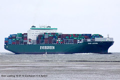 Ever Lasting (andreasspoerri) Tags: containerschiff cuxhaven everlasting imo9595450 samsunggeoje grossbritannien