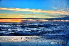 Il mare d'inverno (AndreaTigerVianelli) Tags: mare acqua water tramonto onde vento sky cielo santa marinella perla tirreno mediterraneo crepuscolo bagnascniuga litotale allaperto blu oro schizzi calma litorale