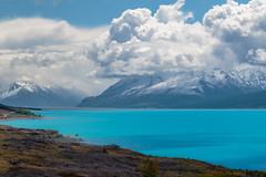 Lago Pukkaki (Andrs Guerrero) Tags: canterbury lago lagopukkaki lake newzealand nuevazelanda oceana pukkaki pukkakilake oceania mountain mountains montaa montaas mount cook national park parque nacional del monte airelibre paisaje landscape turquesa turquoise azul blue paz tranquilidad peaceful
