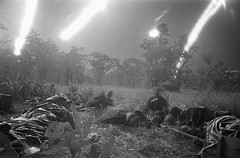 #[OS] Flares from planes light a field covered with dead and wounded of ambushed battalion of the U.S. 1st Cavalry Division in the Ia Drang Valley, Vietnam, on November 18, 1965, during a fierce battle that had been raging for days (source in comments) [9 (Histolines) Tags: histolines history timeline retro vinatage os flares from planes light field covered with dead wounded ambushed battalion us 1st cavalry division ia drang valley vietnam november 18 1965 during fierce battle that had been raging for days source comments 990 x 654 vintage dh historyporn httpifttt2g8rjrm