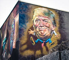 Comic Trump (Stefano Auzzi) Tags: newyork nyc manhattan urban canon stauzz 2016 art architecture photography nofilter brooklyn murales graffity bushwick colourfull trump wall caricature comic
