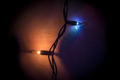 Day Two Hundred and Fourteen (MBPruitt) Tags: christmas lights yes again i like them orange blue strand