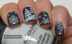 Winter scenery nail art (Simona - www.lightyournails.com) Tags: esmalte smalto vernis unghie manicure bornprettystore bps nails nailpolish nagellack naillacquer nailart nailstamping bp01 holographic