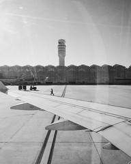 Airport (Van Allen Belt) Tags: wing 5s iphone bw blackandwhite sureal airport