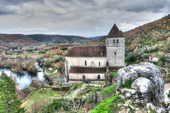 The church in St Cirq (PhilHydePhotos) Tags: architecture autumn buildings fall france lesplusbeauxvillagesdefrance southoffrance stcirqlapopie themostbeautifulvillagesoffrance btiments