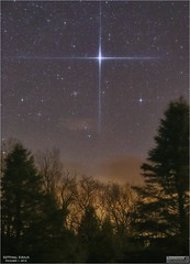 Sirius Setting in the Early Morning of December 1, 2016 (Tom Wildoner) Tags: tomwildoner leisurelyscientistcom leisurelyscientist sirius canismajor canis major dog star trees clouds morning december 2016 astronomy astrophotography astronomer space science stars starshots canon canon6d tripod glow weatherly pennsylvania nightsky night constellation