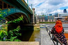 _DSC5015 (durr-architect) Tags: bridge modern london river thames outdoor steel structure architecture water building infrastructure skyline train vehicle metro tube bridges tallships ship