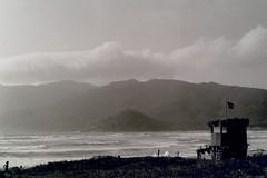When the sun goes down (LiaPalomba) Tags: porto ferro analogue kodak tmax bw sea
