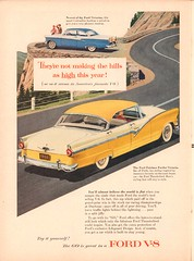 1956 Ford Victoria and Fairlane Fordor Advertisement Time Magazine June 25 1956 (SenseiAlan) Tags: 1956 ford victoria fairlane fordor advertisement time magazine june 25