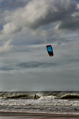 Kite Surfer (suzanne~) Tags: kitesurfer beach spain conil ocean sea waves wind outdoor sport