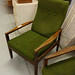 Green Fabric Armchair