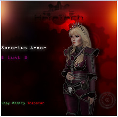Sororius Armor preview (Mya Milena) Tags: red cool chaos mesh avatar gear sl secondlife armor bloggers pixel scifi lust combat rp weapons steampunk roleplay newrelease slmc femalearmor heretech